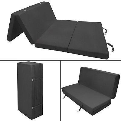 Photo of Folding mattress guest mattress 195x120x7cm black travel mattress folding mattress bed