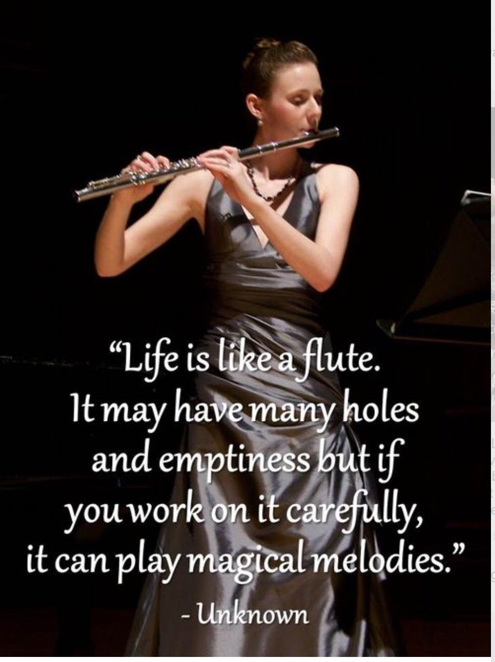 Life is like a flute Flute quotes, Band quotes, Band jokes