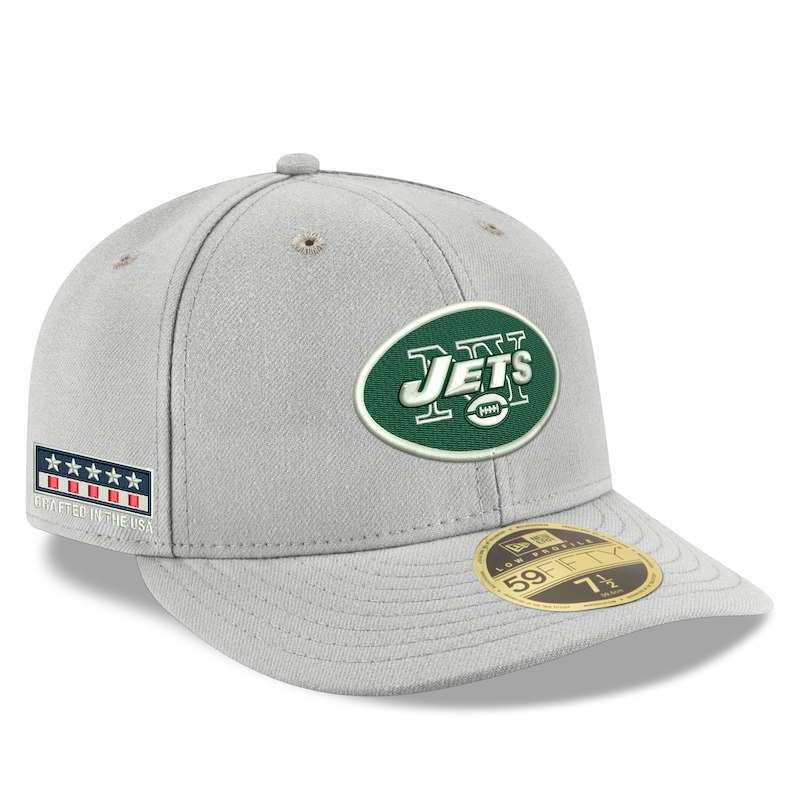 New York Jets New Era Crafted in the USA Low Profile 59FIFTY Fitted Hat -  Gray 692617936
