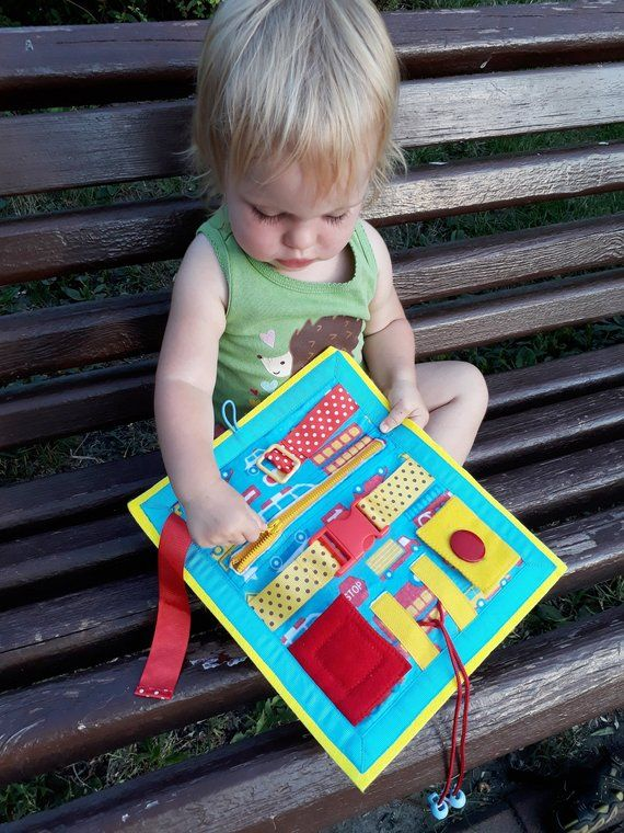 Tutorial Quiet Book, for 2 year old, Soft Baby Book, Travel toy, Kids Busy Book, Buckle toy Travel toddler Sensory Play book Montessori book