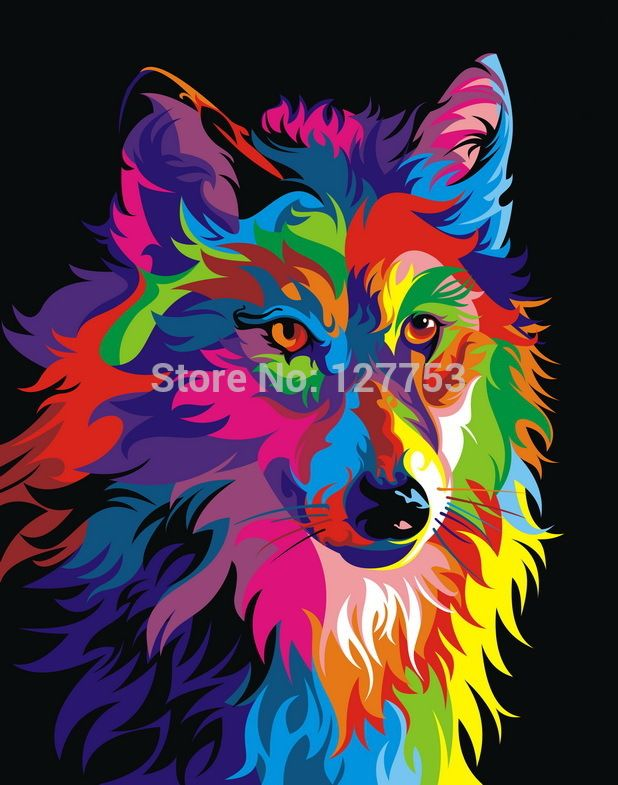 Free shipping Original Animal Oil painting pictures print ...