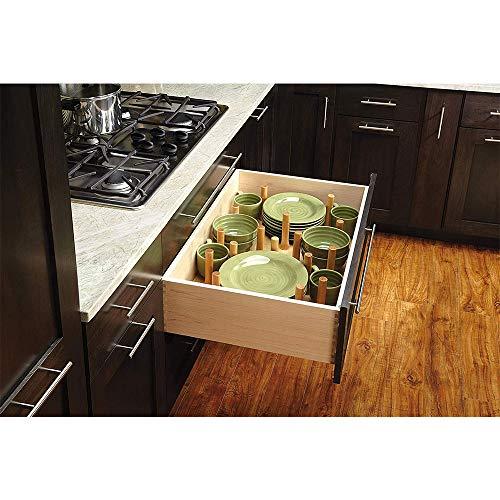 Rev A Shelf 30 X 21 Inch Wood Peg Board System In 2020 Deep Drawer Organization Kitchen Storage Dish Drawers