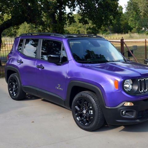 Jeep Renegade In Hks Purple Pearl Mixed In Dyctc Then Topped Off