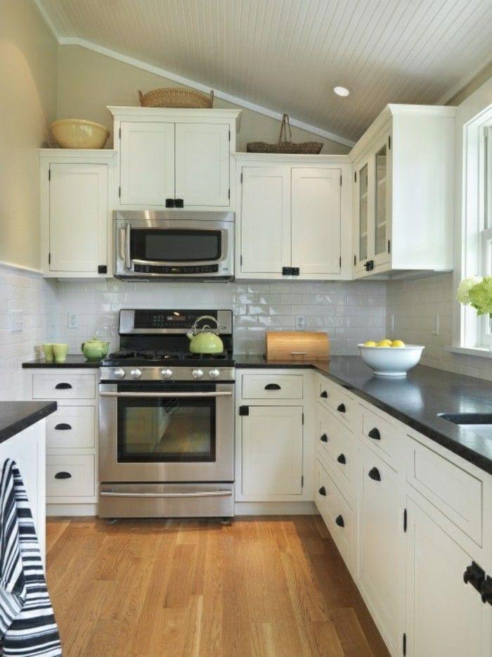 küche l-form in weiß mit bodenbelag mit holzoptik Küche Möbel