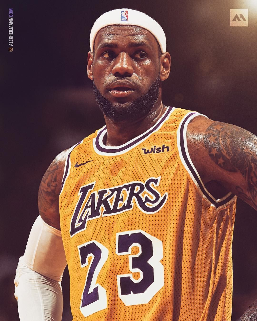 pretty nice 5317a 68b93 should lebron bring the headband back with the lakers ...