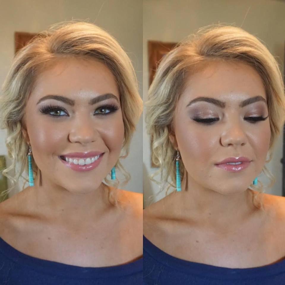 bridal hair & makeup // bride smokey eye // natural airbrushed
