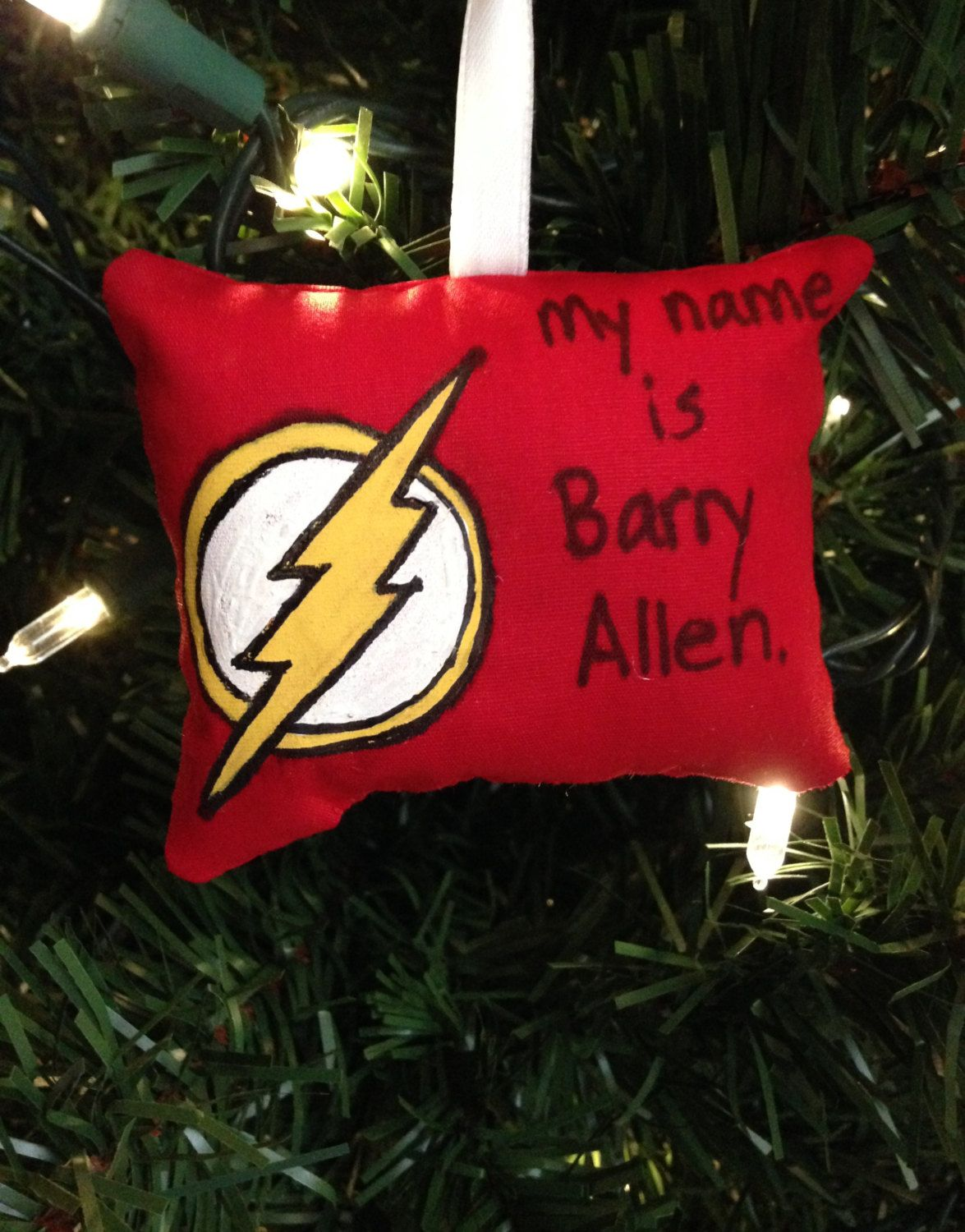 The Flash Logo Symbol My Name Is Barry Allen Christmas Ornament DC ...