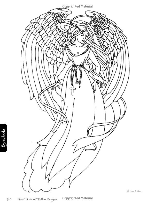 Great Book Of Tattoo Designs Revised Edition More Than 500 Body Art Designs Lora Irish 97815652381 Angel Coloring Pages Fairy Coloring Pages Fairy Coloring
