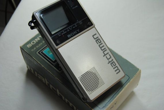 Sony Watchman Vintage TV//Television 1980's by camillesBOOTH66, $68.00