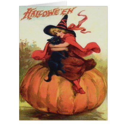 Vintage Halloween Witch Black Cat Pumpkin Card Lots Of Clip Art Organized By Holiday Season Etc