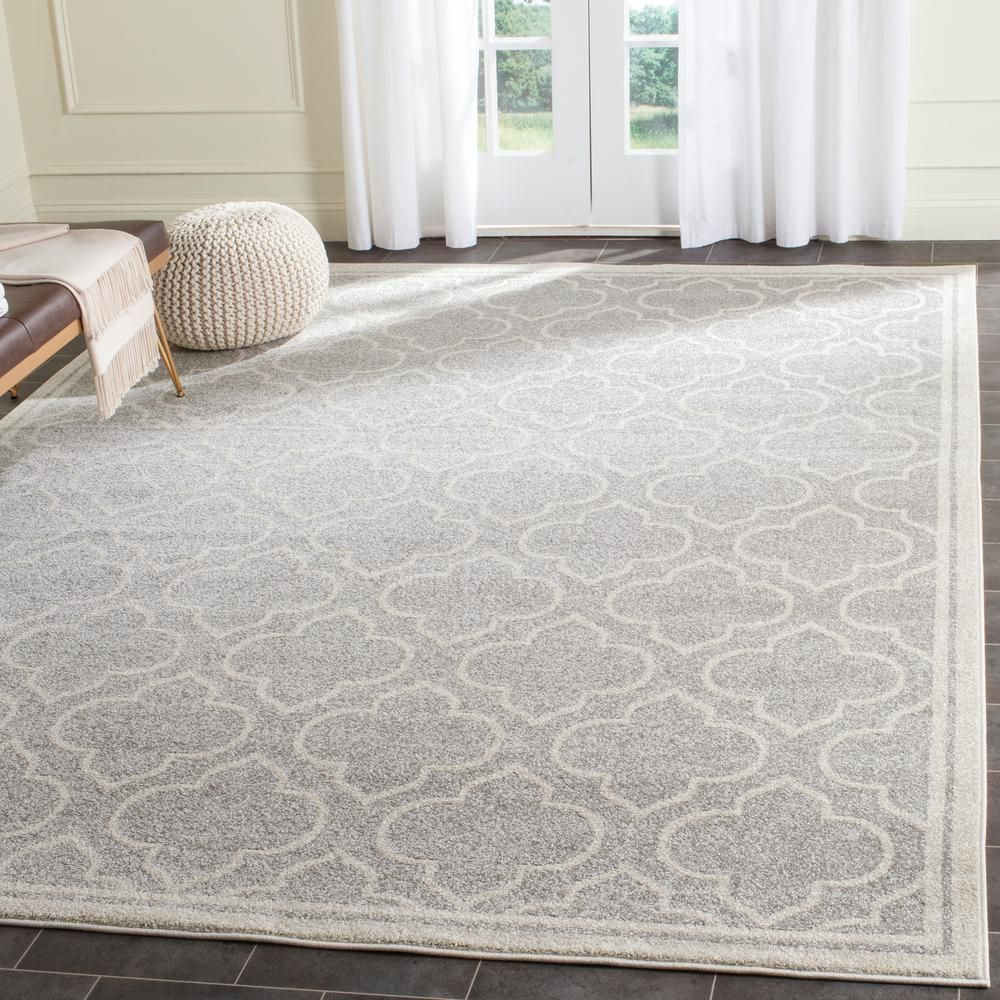 Safavieh Marist Gray Light Gray 3 Ft X 5 Ft Area Rug Amtw412c 3 The Home Depot Area Rugs Geometric Area Rug Indoor Outdoor Area Rugs