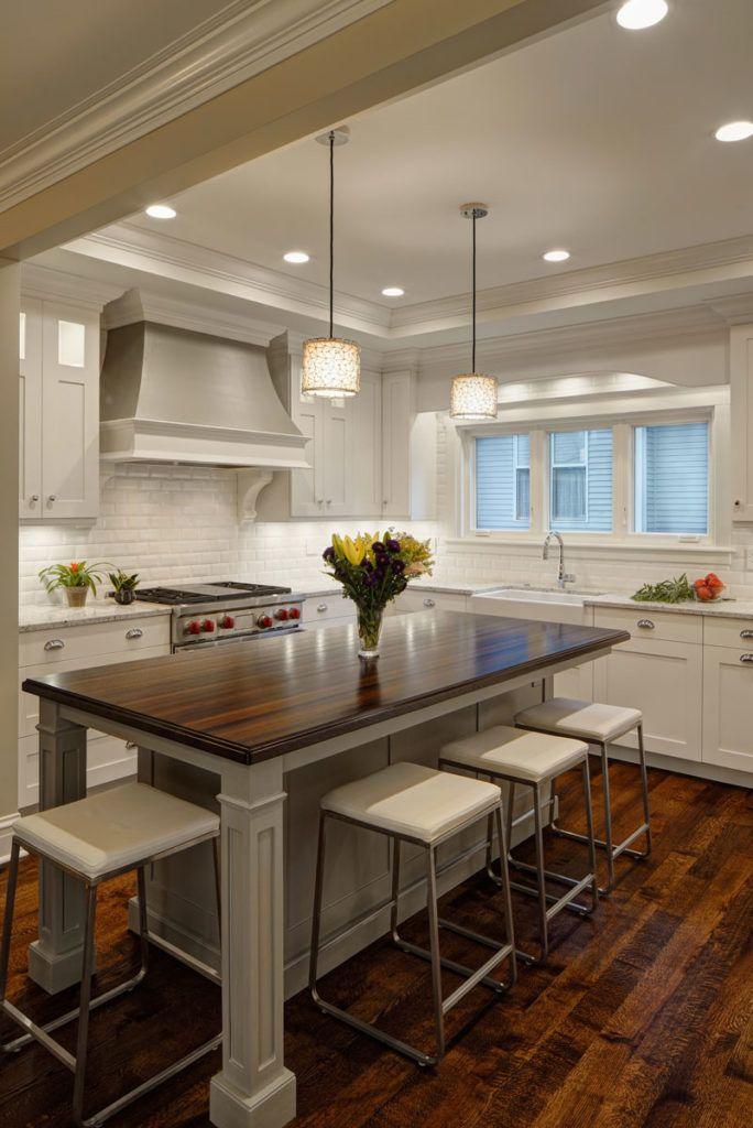 Wenge Kitchen Island Top designed by Drury Design Kitchen  Bath