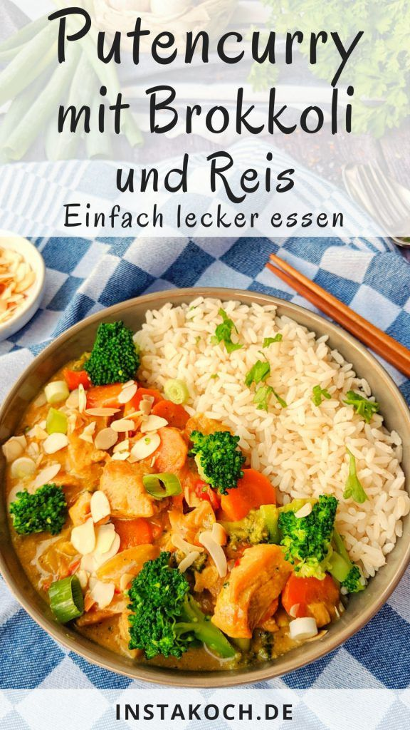 Photo of Turkey curry with broccoli, almonds and rice – a super delicious recipe – low carb