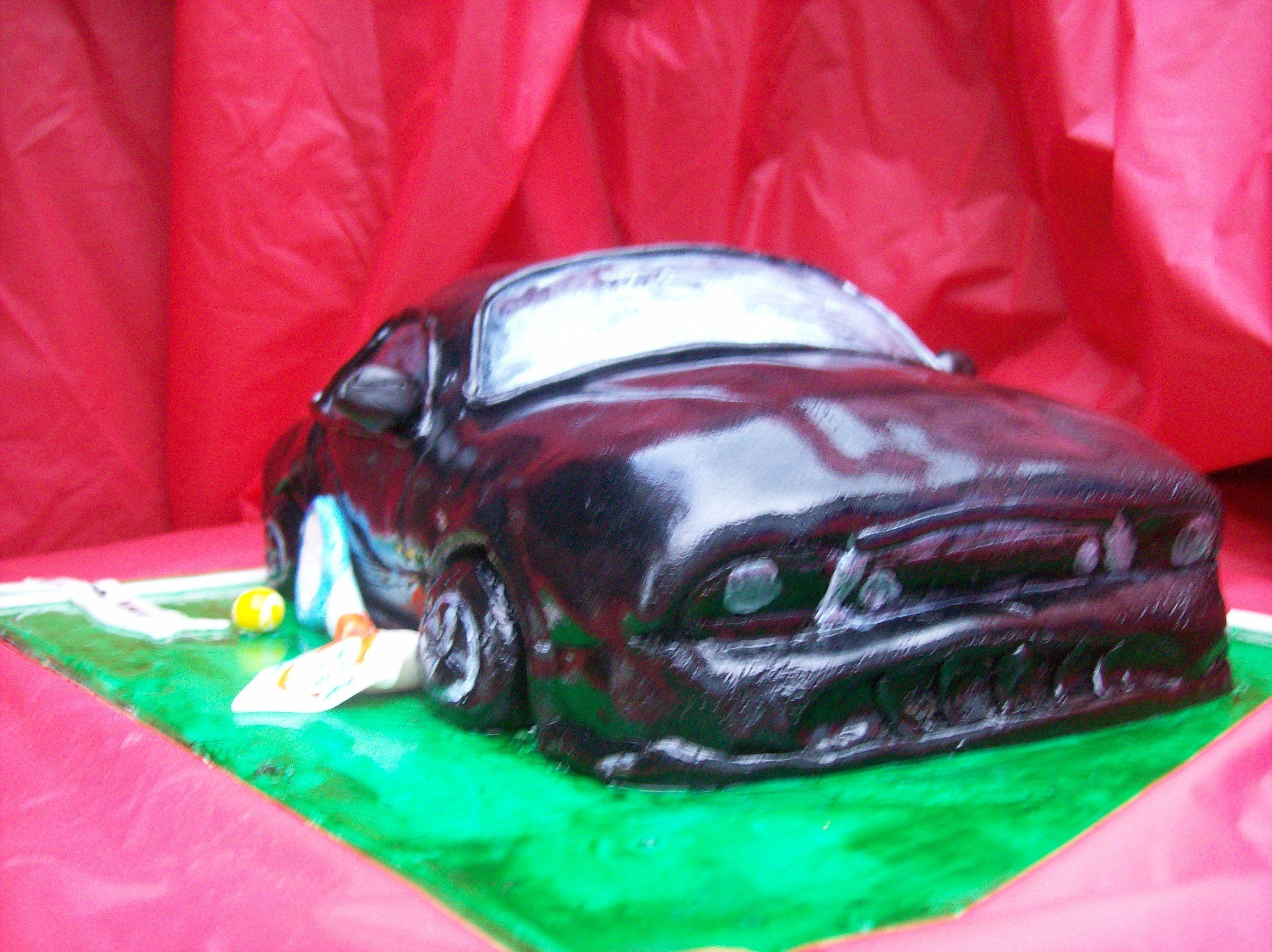 Pin Mustang Car Cake Sweet Grace Designssweet Designs Cake On