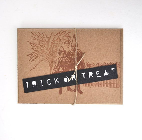 #Halloween Card  Blank Greeting Card with by TerraBellusPaperCo, $3.00