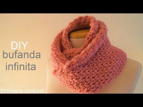 Bufanda infinita tejida a crochet paso a paso para principiantes ...