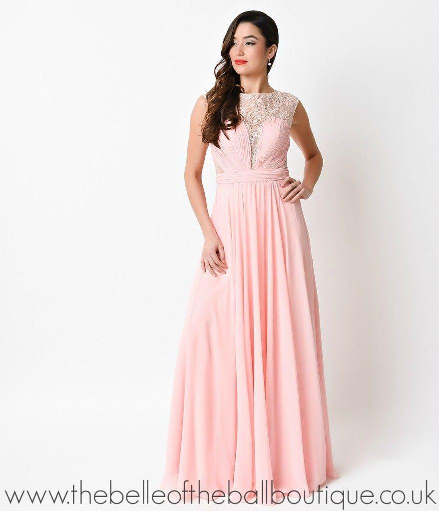 Blush Pink Chiffon Long Gown – 207   Prom 2016   Pinterest