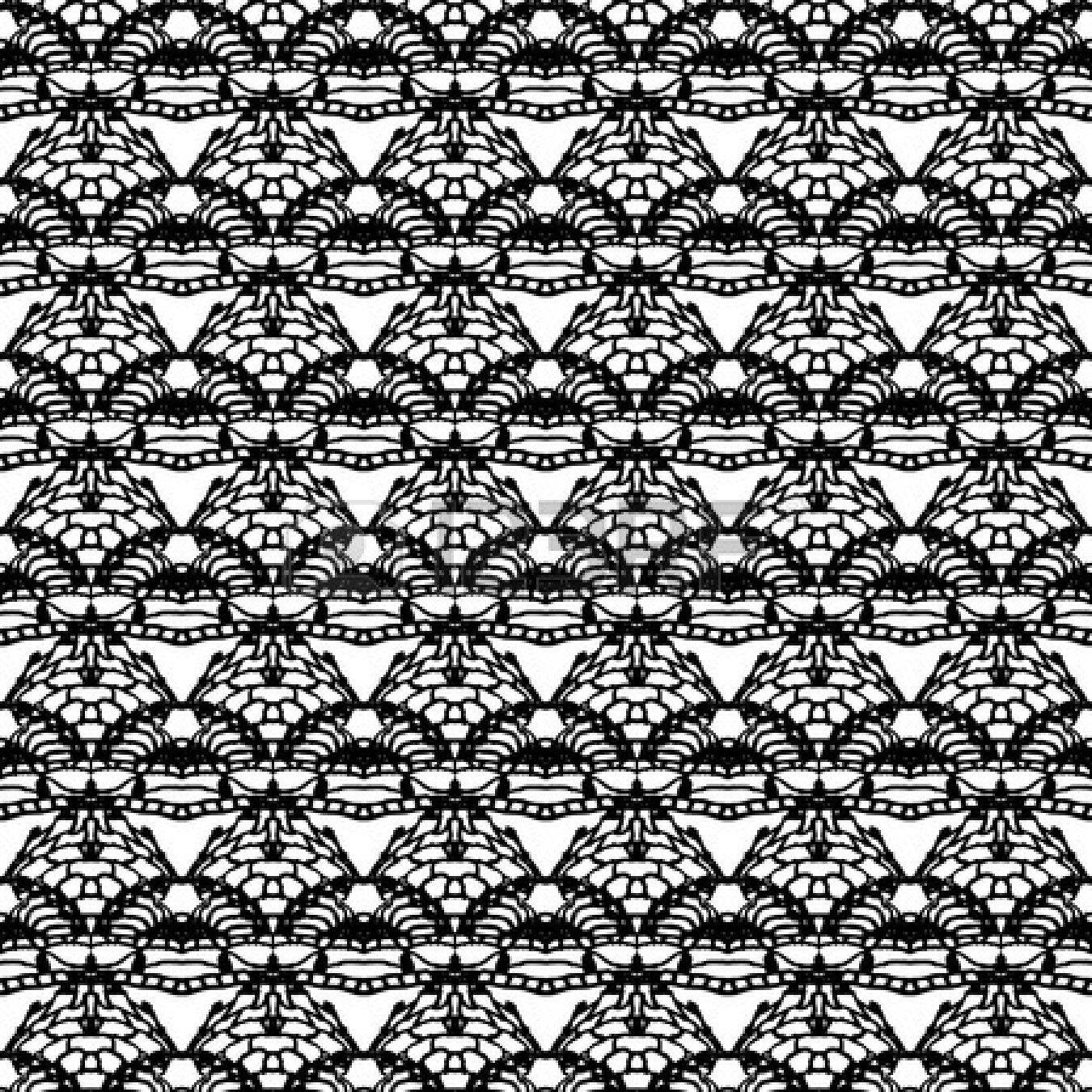 Encaje negro sin fisuras patrón de la ilustración vectorial de malla