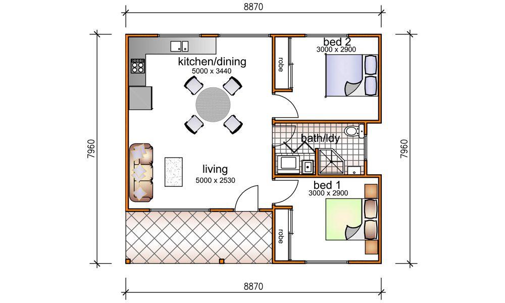 2 Bedroom 5 Star Granny Flats in 2020 Granny flat