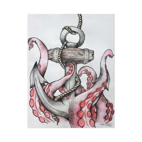 Group of octopus and anchor drawing Google Search We Heart It