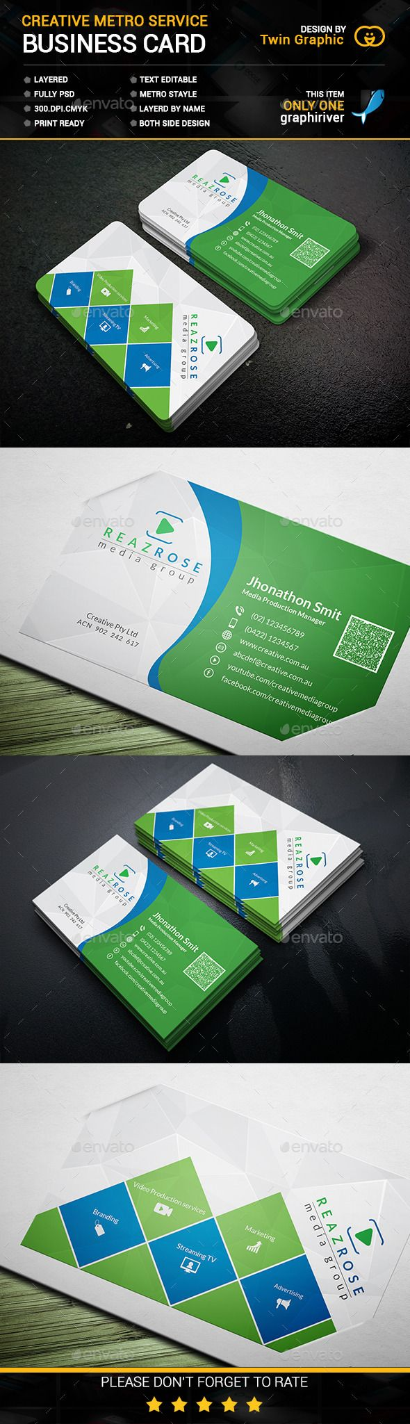 Creative Metro Service Business Card Business Cards Creative Business Card Photoshop Business Card Mock Up