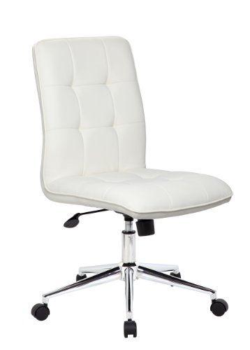 Boss Office Products B330 Wt Mellennial Modern Home Offic Https Www Amazon Com Dp B00ikbl2z Modern Office Chair White Office Chair Adjustable Office Chair