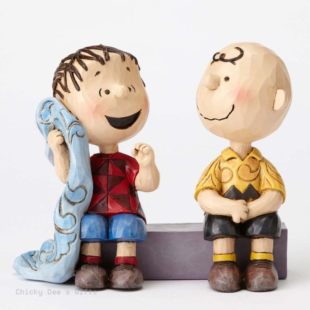 Enesco Peanuts Collection Charlie Brown & Linus Talking on Sidewalk Name: Sage Advice MPN: 4054081 ARTIST: Jim Shore CONDITION: NEW DATE INTRODUCED: 5/1/2016 SIZE: 4 in H x 2.25 in W x 5 in L MATERIAL