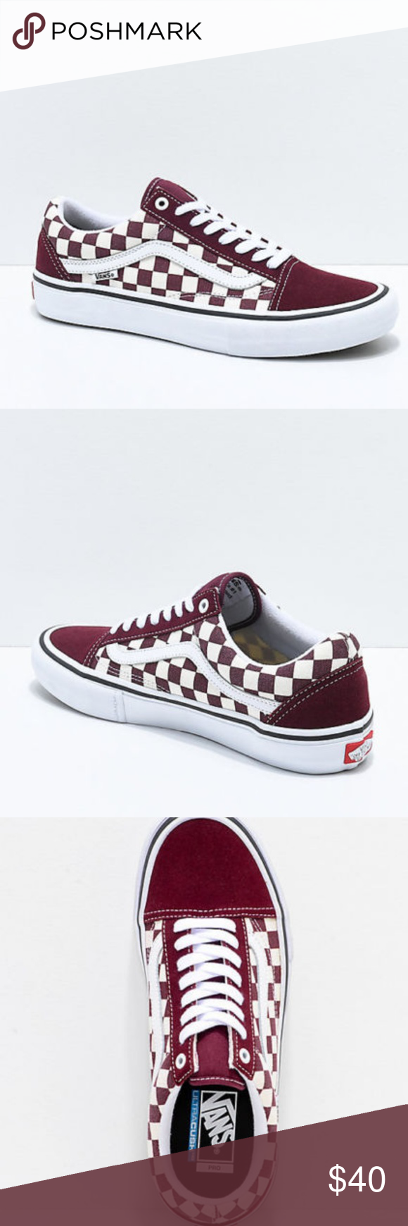 0a9c669ee60a4c Vans Old Skool Pro Port Royal   White Checkered Sk Vans Old Skool Pro Port  Royal   White Checkered Skate Shoes Men s 9 A classic look draped in a new  port ...