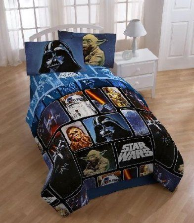 Star Wars 5pc Full Bedding Set Comforter 4 Pc Sheet Set New By