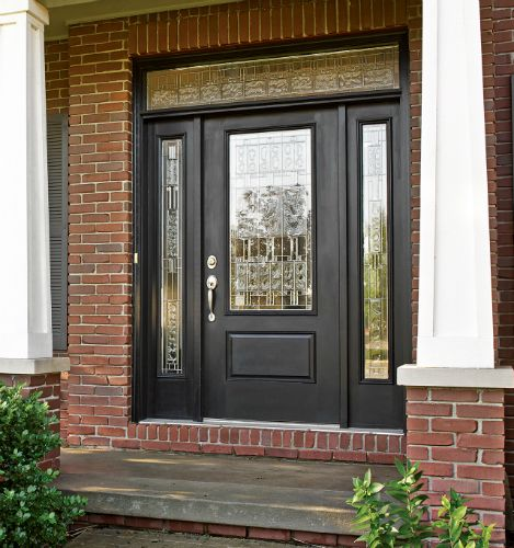 The therma tru smooth star 3 4 lite 1 panel door pairs for Therma tru fiberglass entry doors prices