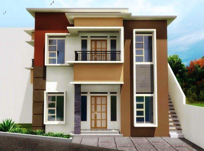 """Ã"""" 75 Model Desain Rumah Minimalis 2 Lantai Sederhana Modern Tampak Depan Dengan Gambar Rumah Minimalis Desain Rumah Modern Minimalis"""