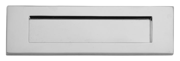 Door Furniture Direct Polished Chrome Letter Box 305x96mm At Door