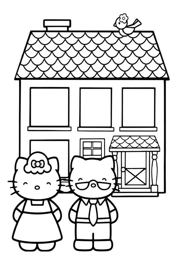 Hello Kitty Baking Coloring