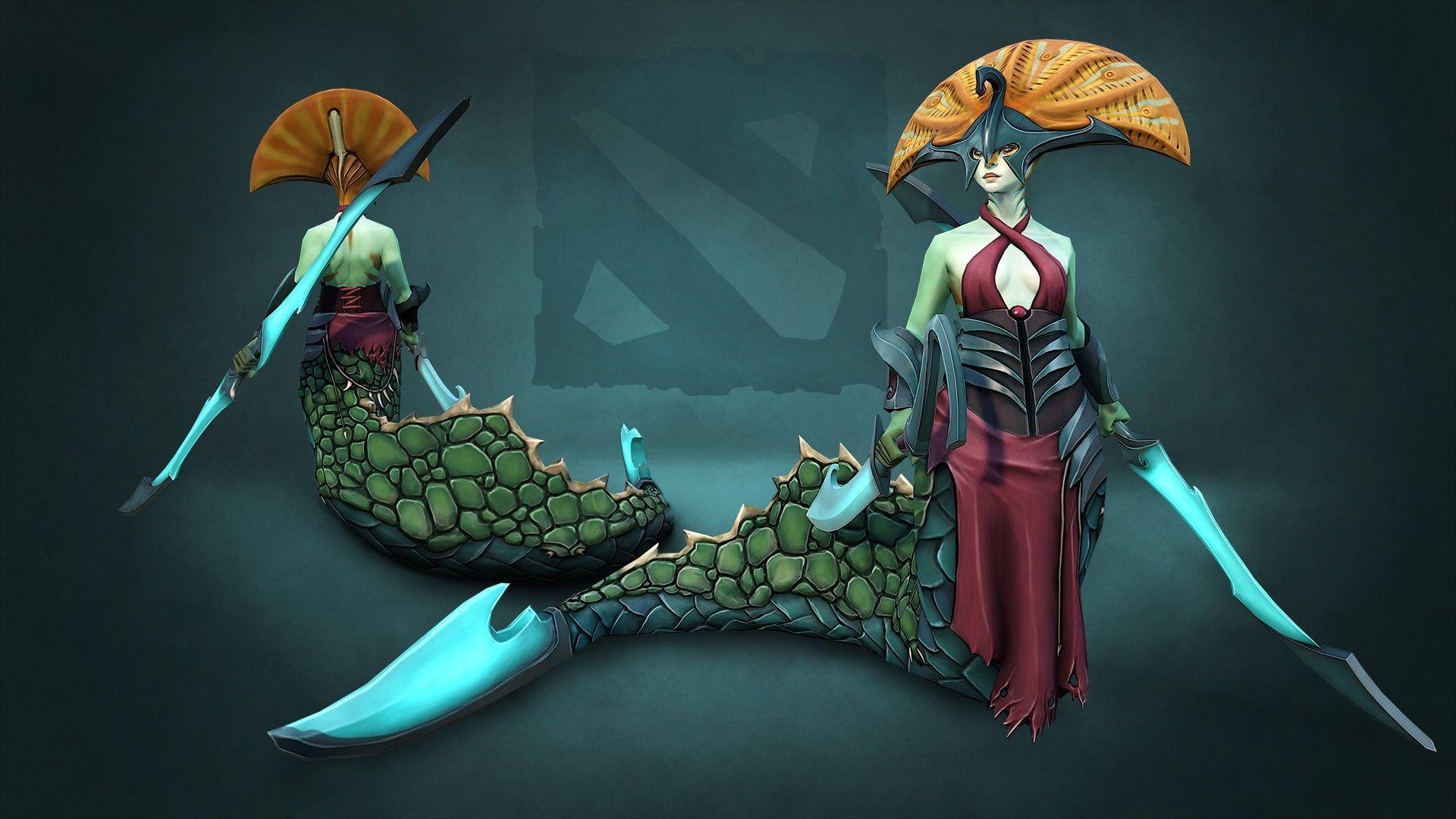 Naga Siren Wallpapers Best Dota 2 Wallpaper Pinterest