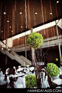 Green wedding décor sometimes the color is the theme and  your inspiration jumps off from there
