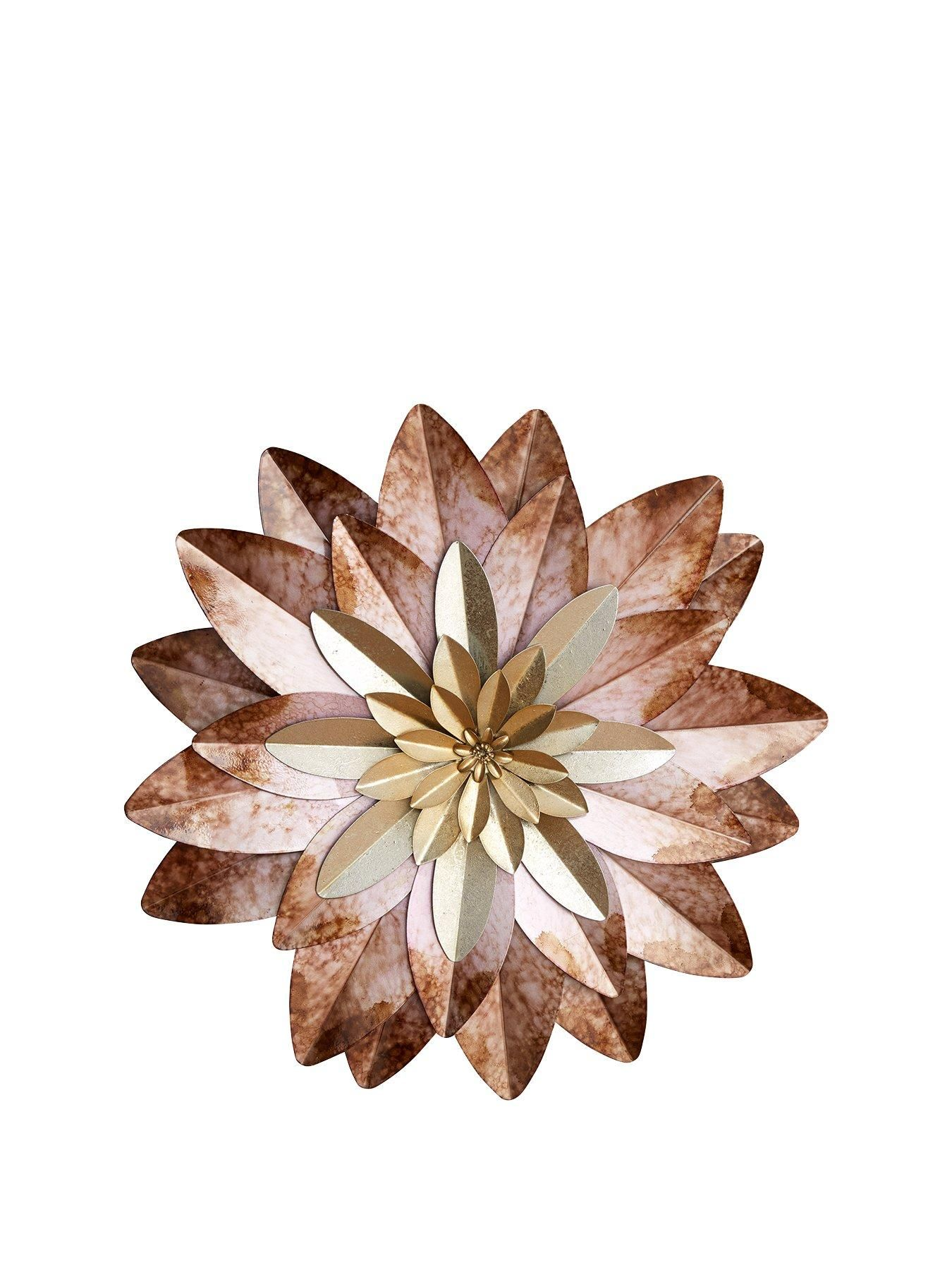Flower Metal Wall Art Bring your walls a touch of stylish modern art with  this eye-catching flower. Graduating from a golden yellow centre to a  weathered ... 683275a206