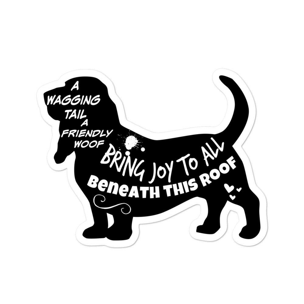 Crazy Dachshund LadyHigh Quality Vinyl  Dog Window Decal Sticker