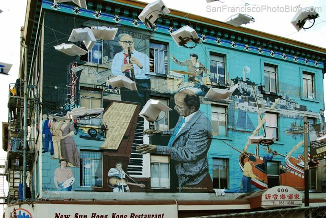Jazz Mural North Beach San Francisco