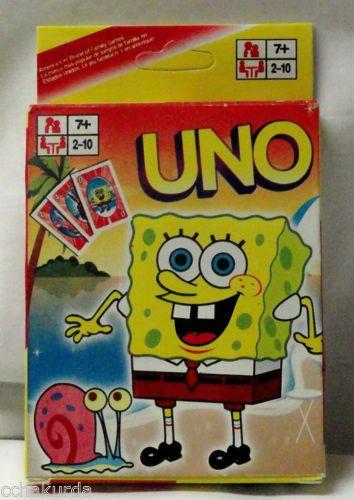 Uno Spongebob Squarepants Card Game New TV Show   eBay