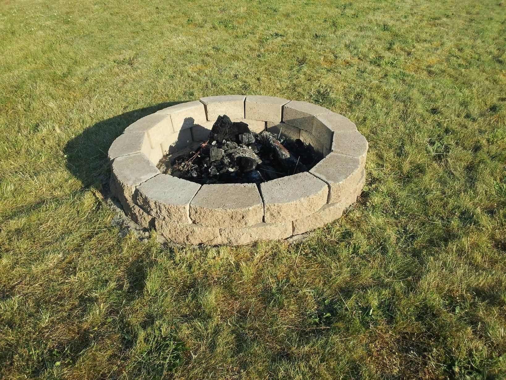 Diy fire pit the paver blocks are about 150 each home