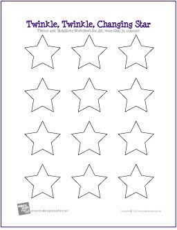 Twinkle Twinkle Changing Star Listening Lesson Worksheet