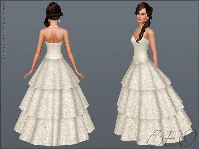 Sims3 Wedding Dress 02 Http Www Mysims Org P 475 Ts3 Stuff Pinterest Sims And Video