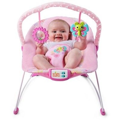 1fa101193869 Bright Starts Butterfly Dreams Bouncer - Pink