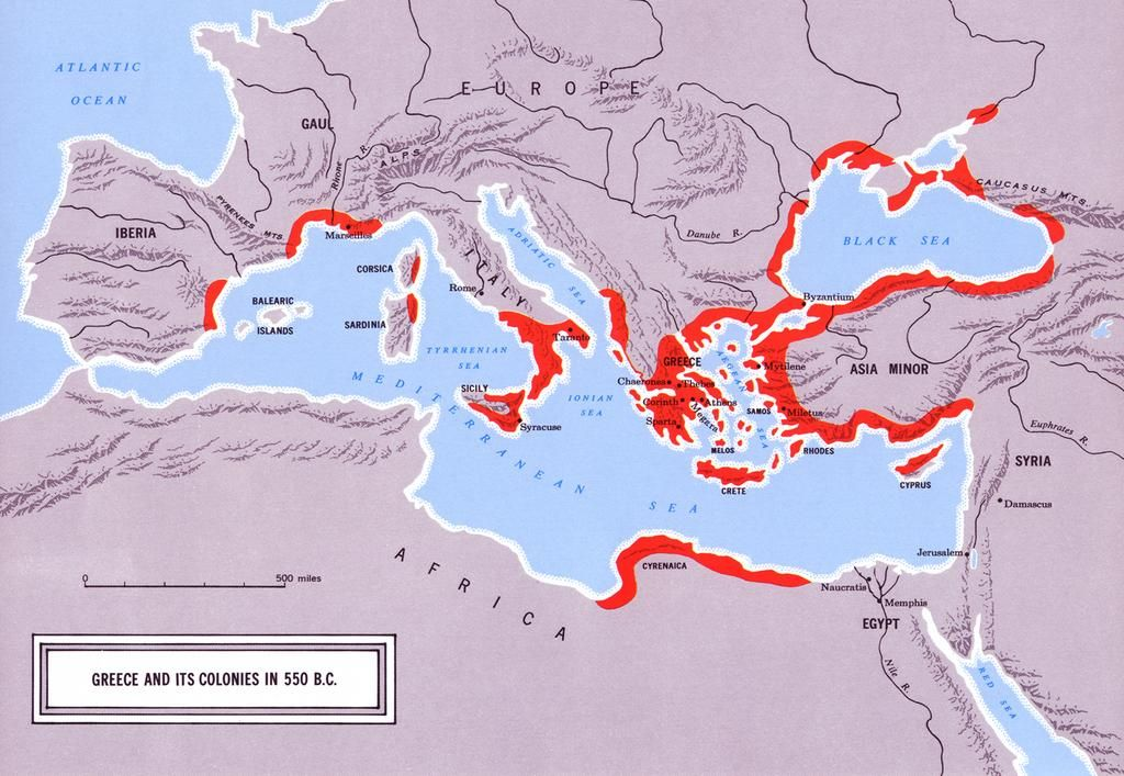 Another map of Greek colonization Research for Medea