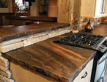 Rustic Countertop, Color Striations, Rough Edge Concrete Countertops  SunWorks, Etc. LLC Annville