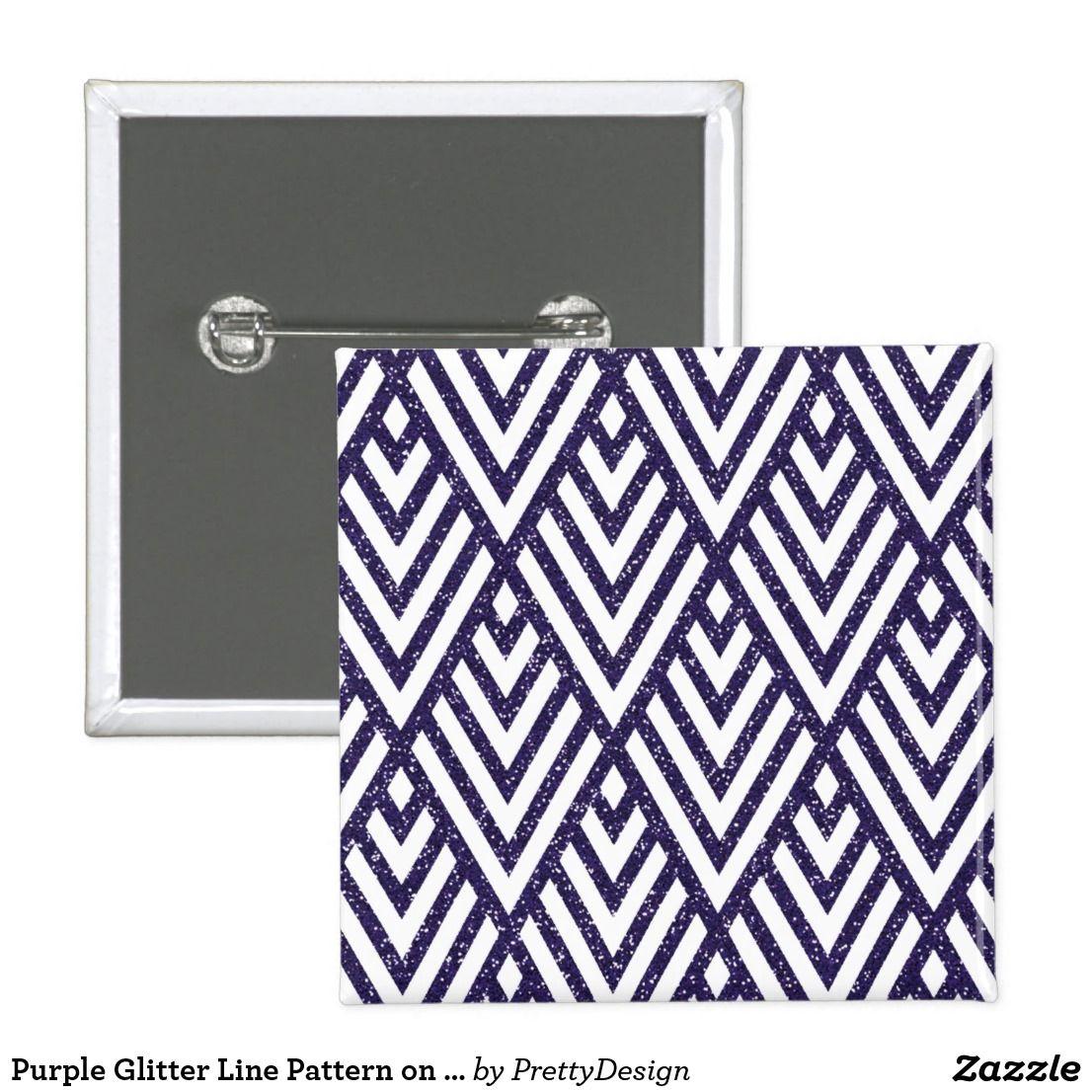 Purple Glitter Line Pattern on Button