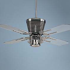 52 Quorum Retro Chrome Ceiling Fan With Light Kit Ceiling Fan