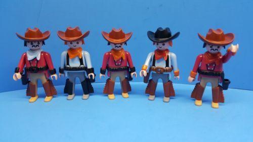 6adb80f7b93 Playmobil 19854  Playmobil Wild Western Series 5 Cowboys Figures Klicky Toy  Geobra 160 -  BUY IT NOW ONLY   14.98 on  eBay  playmobil  western  series  ...