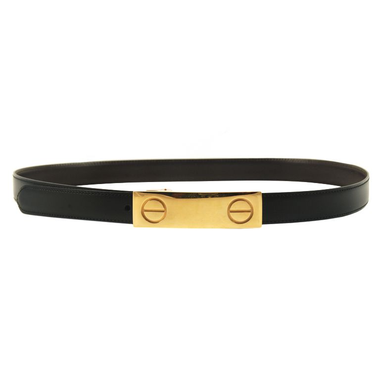 Cartier Leather Belt With Love Design Buckle 1stdibs Com Belt Designer Belts Love Design