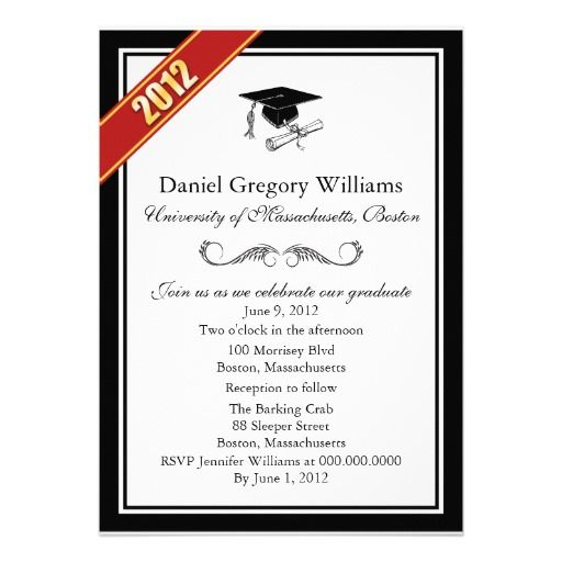Announcement Graduation Invitation Templates  Invitation Sample